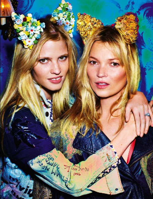lara stone and kate moss