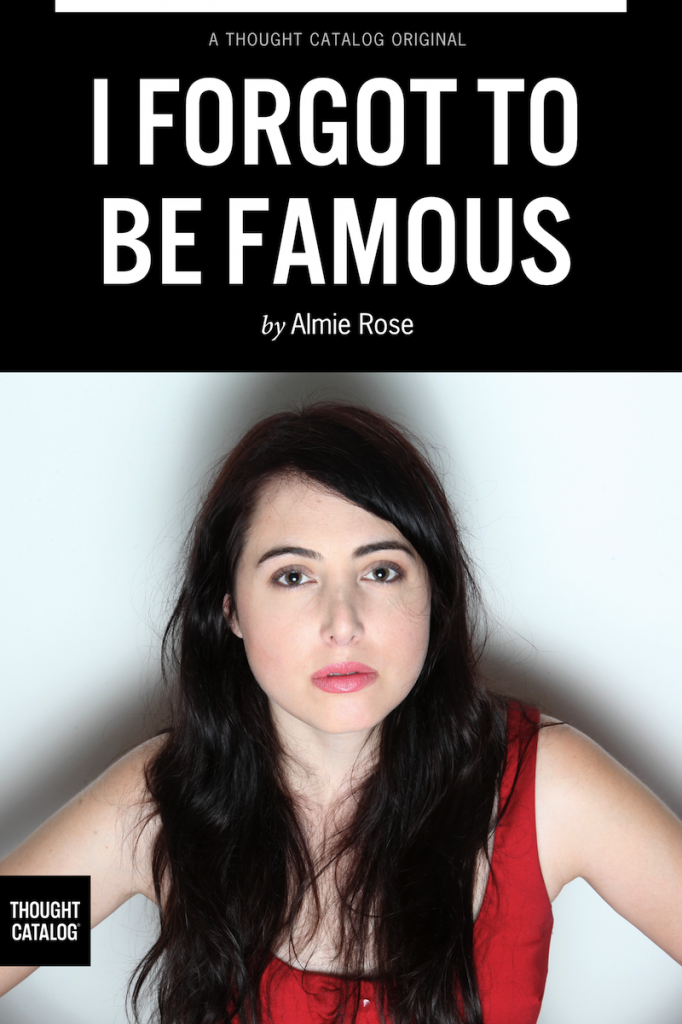 almie rose book cover i forgot to be famous