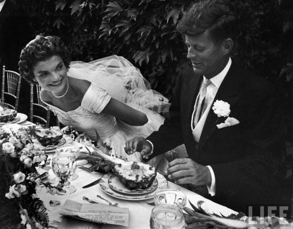 jackie john f. kennedy wedding photo